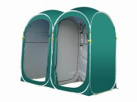 2-Room Easy Up Portable Privacy Shelter Toilet Tent