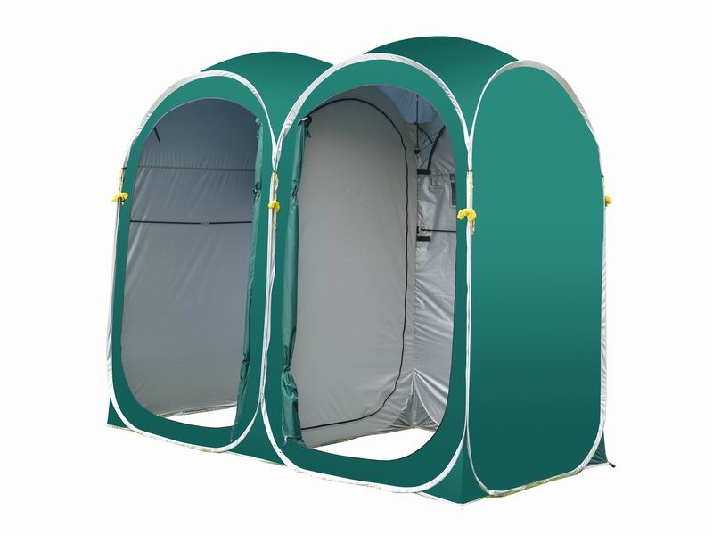 2-Room Easy Up Portable Custom Privacy Shelter Toilet Tent