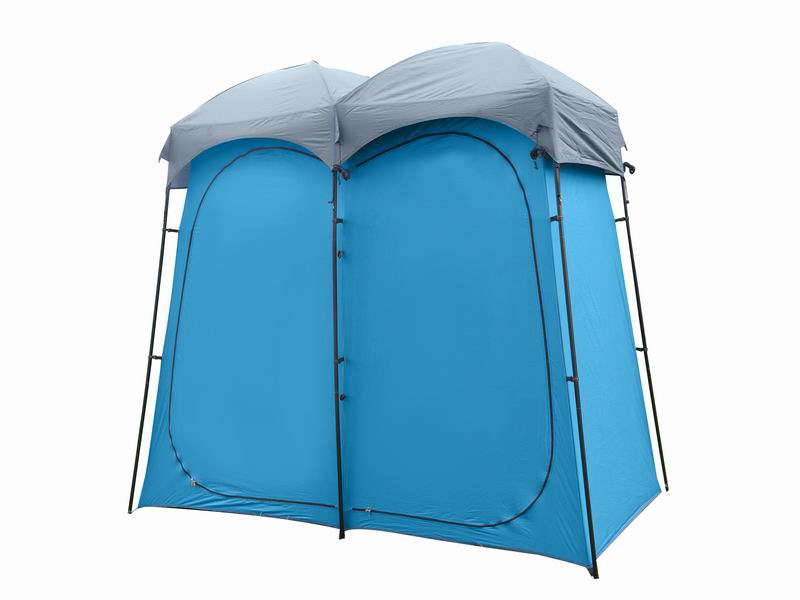 2-Room Portable Custom Pop-up Camping Shower Tent