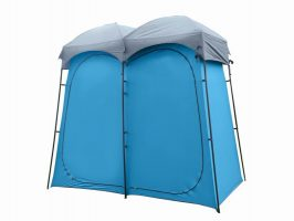 2-Room Portable Pop-up Camping Shower Tent