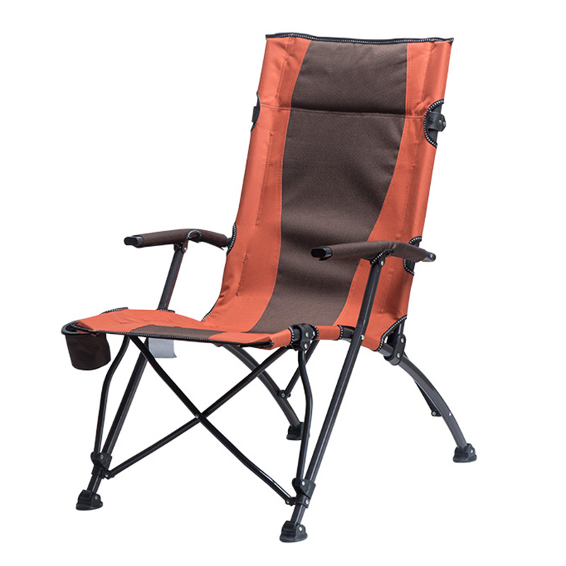 High Back Folding Hard Arm Camp Chair